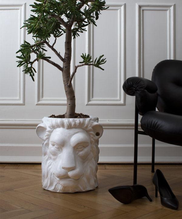pot de fleur lion